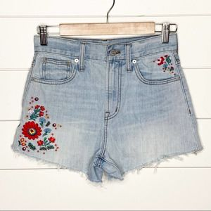 Madewell The Perfect Jean Embroidered Shorts 23